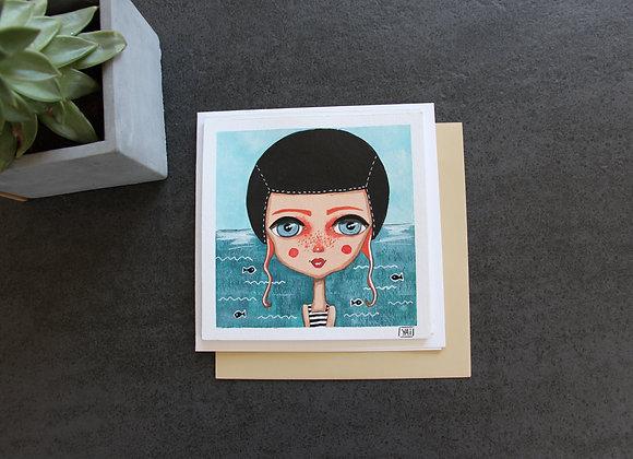"""""""LOUGA LA NAGEUSE""""Peinture et feutre by YAI"""