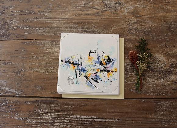 """""""COMPO 155-7"""" Encre de chine et encre aquarelle by BERNARD NEULAT"""