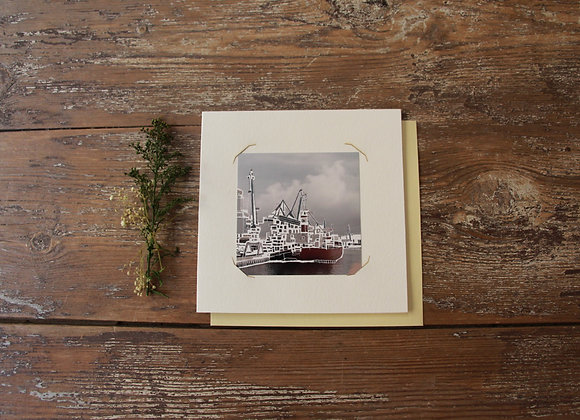 """LES DOCKS"" Gravure sur photo by MATHIEU SEGURA"