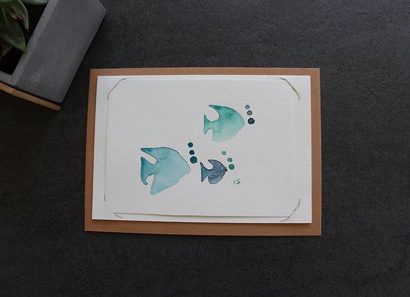"""""""POISSONS""""Aquarelle by VERONIQUE GRAVIER"""