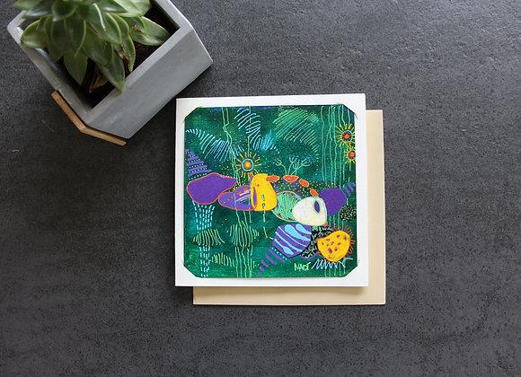 """""""SOUS LA MER"""" Peinture acrylique by NADI"""