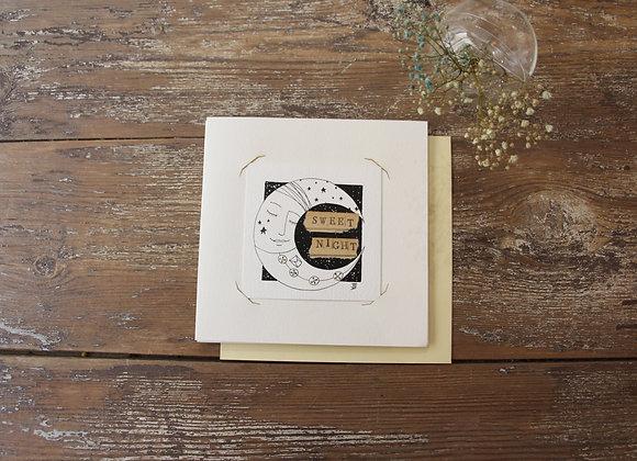 """SWEET NIGHT""Encre et collage by JULIE DE TERSSAC"