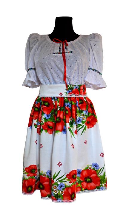 Folklórny set ( sukňa + blúzka + opasok)
