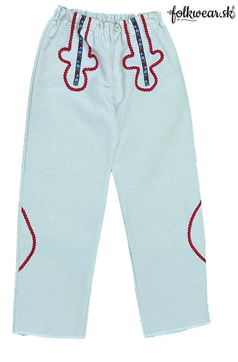 Chlapčenské folklórne nohavice