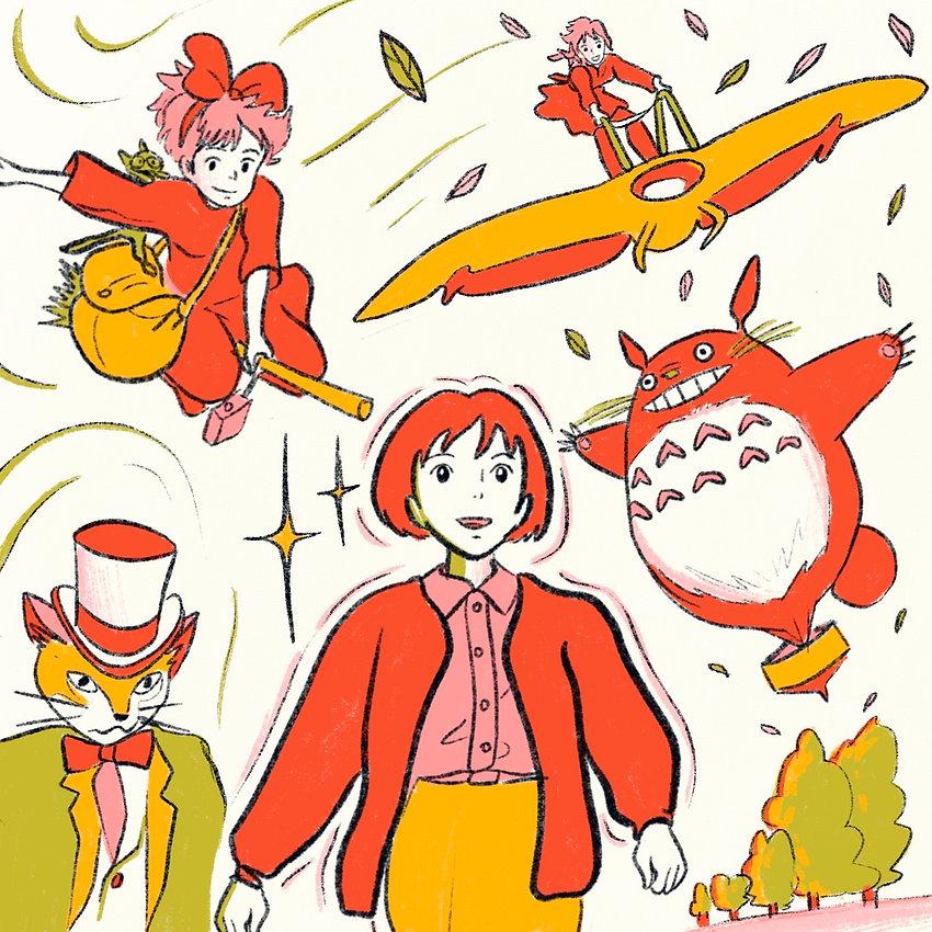 ISABELLA_ACOSTA_Studio Ghibli Illustrati