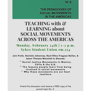 LÁPIZ N˚4: The Pedagogies of Social Movements in the Americas Roundtable