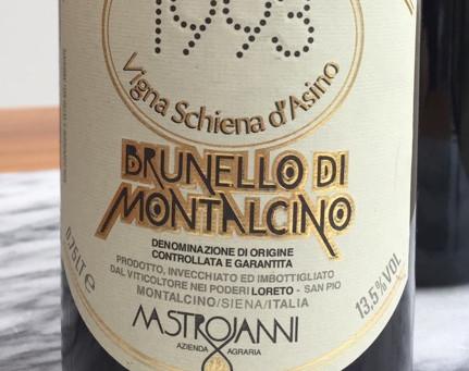 Brunello Di Montalcino Mastrojanni Vigna Schiena d'Asino 1993