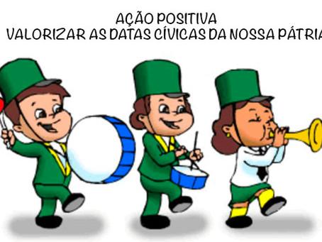 7 de setembro é o dia da comemoração da independência do Brasil