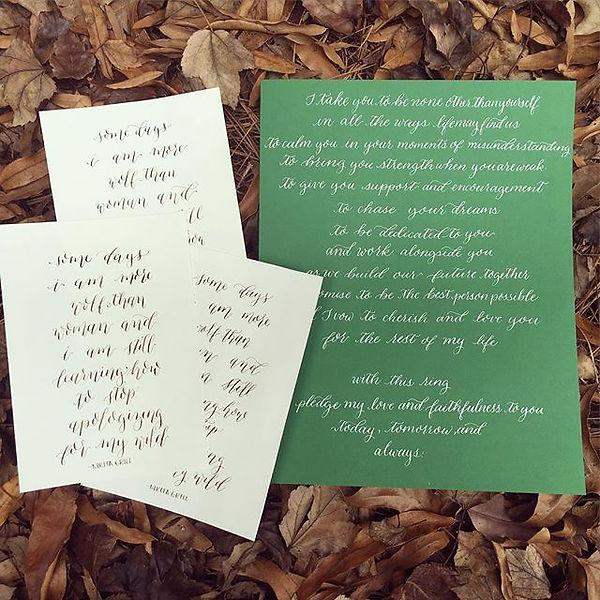 Wedding Calligraphy South Carolina