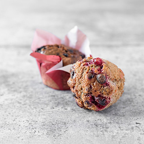 6 muffins aux canneberges