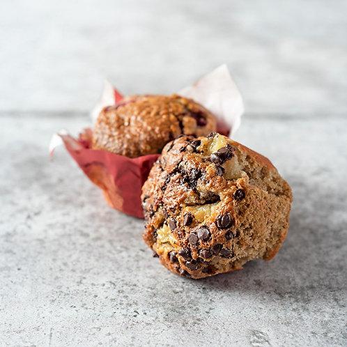 6 muffins poire-chocolat