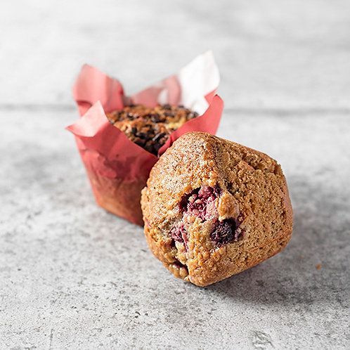 6 muffins aux framboises