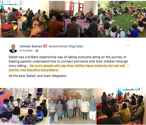 Review of storytelling workshop for parents