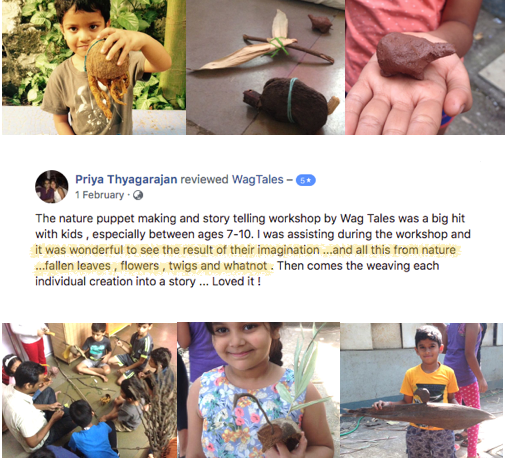 Review for nature art workshop at school
