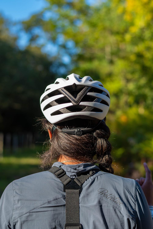 Casque vélo vu de dos