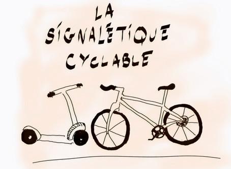 La signalétique cyclable