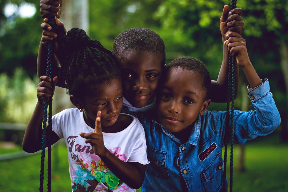 Three young Cameroonian children