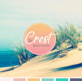 THE CREST BEACH HOUSE- Logo Design