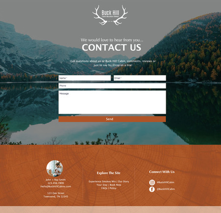 THE GREAT OUTDOORS- Contact Us Page