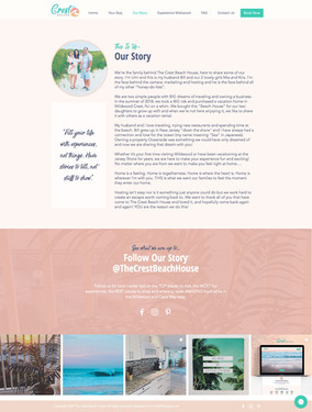 THE CREST BEACH HOUSE- Our Story Page