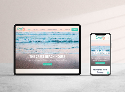 THE CREST BEACH HOUSE- Mobile Friendly Website