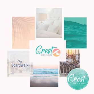 THE CREST BEACH HOUSE Branding Mood Board