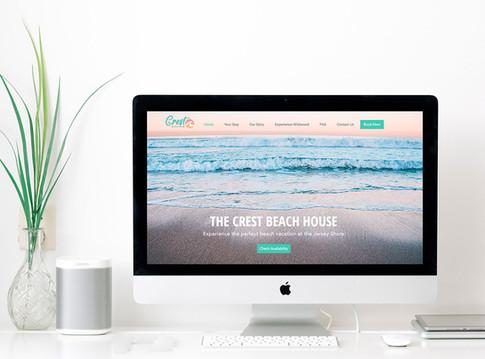 THE CREST BEACH HOUSE- Website Design
