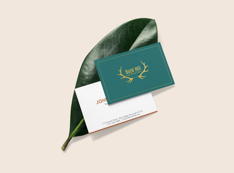 BUCK HILL CABIN- Business Card