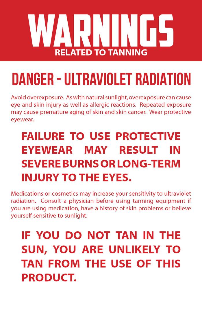 Tanning - Danger Ultraviolet Radiation.j