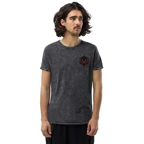 Raven King Emblem Denim T-Shirt