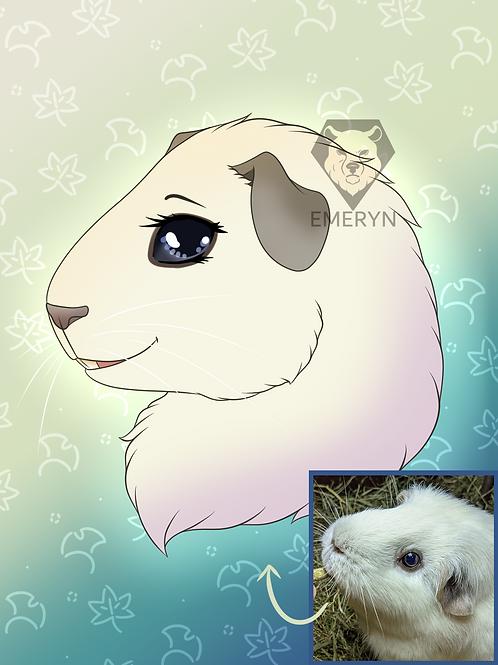 Pet Portrait Headshot (1pet)