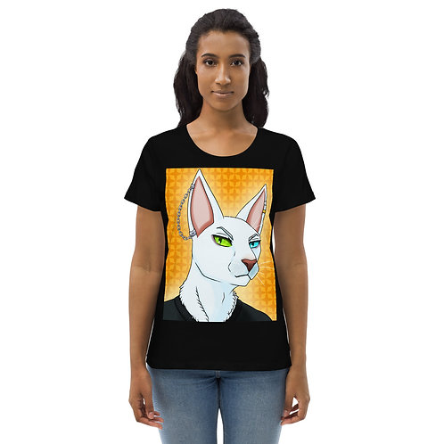 Anthro Cat Women's fitted eco tee