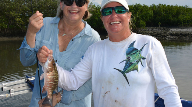 Sunshine State Offers Family Fishing Fun - Pontoon Boat Offers Comfort on Inshore Expeditions