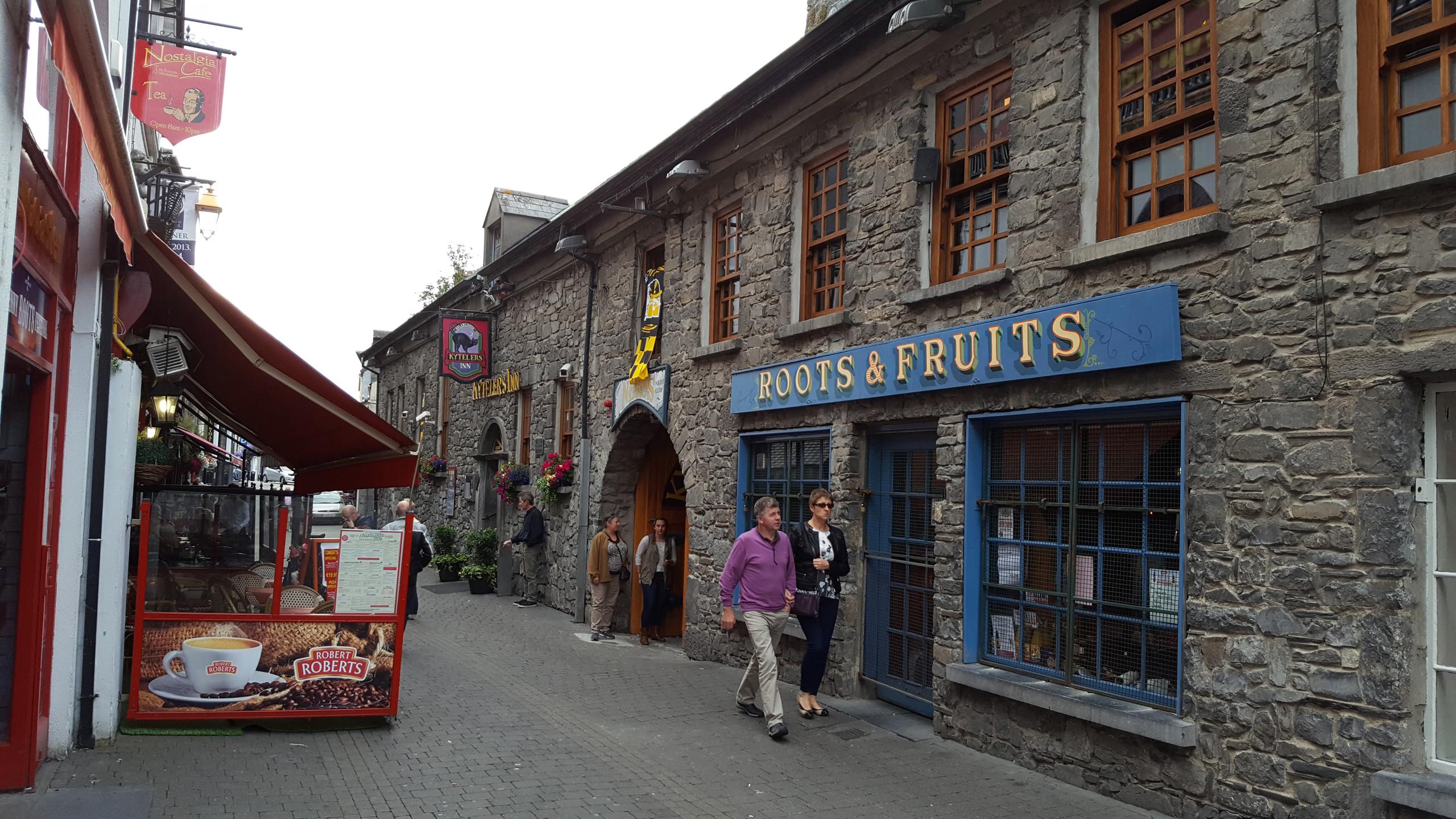 Ancient stone walls hide restaurants