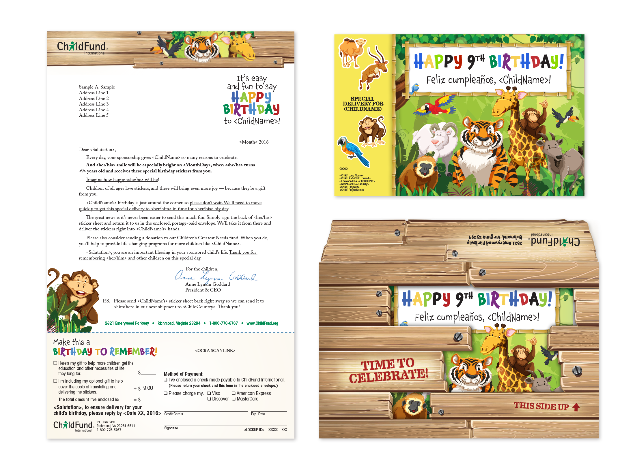 ChildFund Birthday Package