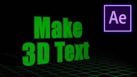 How To Make 3D Text/How I Made My Intro in Adobe After Effects!