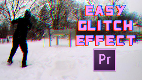 How to make an EASY GLITCH effect in Adobe Premiere Pro Tutorial