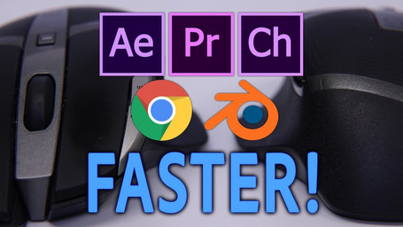 Work 10x Faster With This One Thing! Video Edit and Motion Graphic Design With Gaming a Mouse