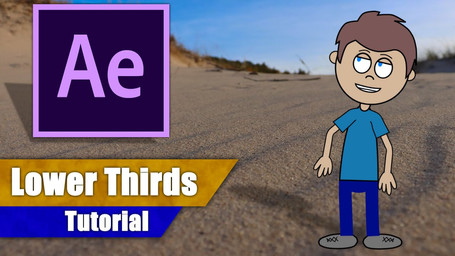 How To Create 3 EASY LOWER THIRDS in After Effects!