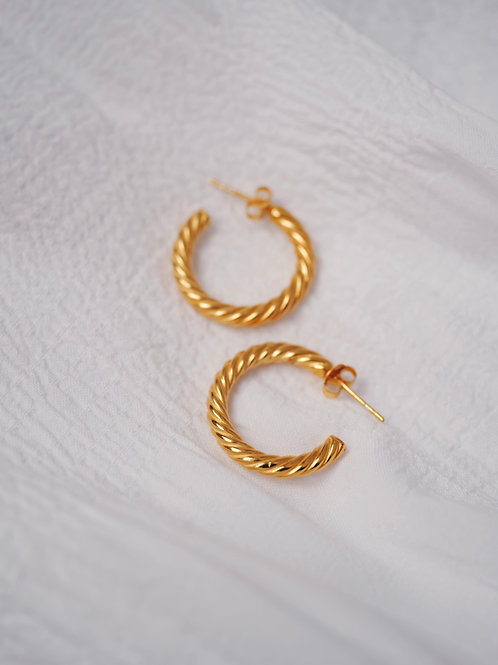 curly HOOPs SILVER 925 18mm