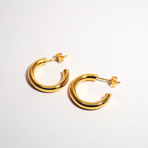 A little chunky HOOPS SILVER 925 18mm gold plated