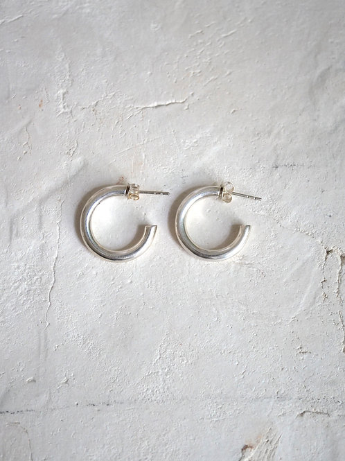 little chunky hoops (S) 18mm 925 Silver