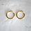 Thumbnail: chunky hoops (M)  30mm 18k gold vermeil
