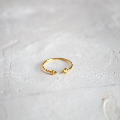 SUMMER gold plated 925 Sterling Silverring
