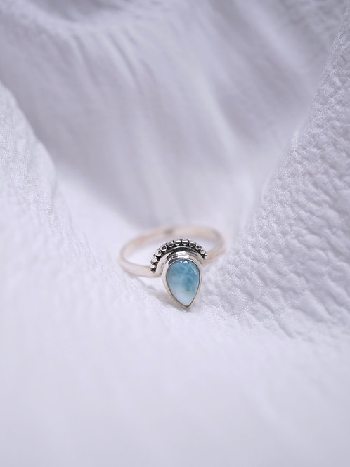 """""""BE HERE NOW"""" 925 Silverring Larimar"""