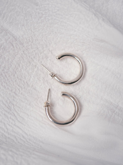 A little chunky HOOPS SILVER 925 18mm