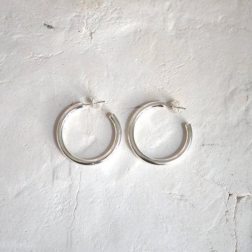 chunky hoops (M)  30mm 925 Silver