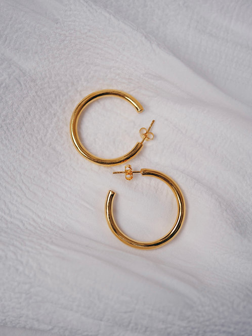CHUNKY HOOPS GOLD 925 30mm