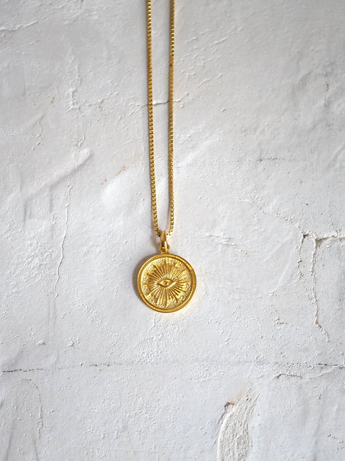 BYRON Coin Necklace 925 gold plated