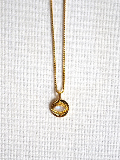 3rd EYE MOONSTONE 925 gold plated Sterling Silver